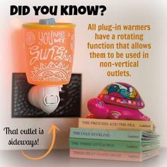 Tips & Tricks: Scentsy plug-in warmers feature a rotating base function that allows them to be used in non-vertical outltes #scentsbykris