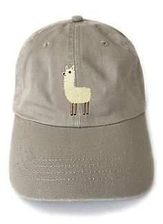 Llama embroidered baseball cap