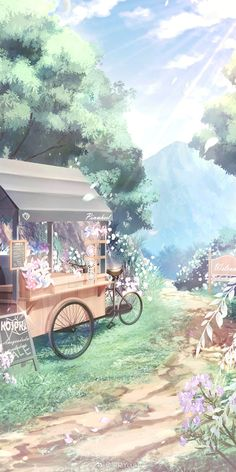 Anime Backgrounds Wallpapers, Anime Scenery Wallpaper, Landscape Wallpaper, Pretty Wallpapers, Animes Wallpapers, Nature Wallpaper, Fantasy Landscape, Landscape Art, Aesthetic Backgrounds