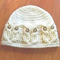 download a FREE pattern every day. ~ Owl Beanie | Crochet Stash .Tumblr .Com