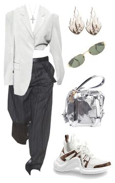 """""""Untitled #2195"""" by lucyshenton ❤ liked on Polyvore featuring Paco Rabanne, Gucci, Ring of Fire, Versace and Timeless Sterling Silver"""