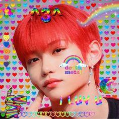 Lucas Nct, Rainbow Aesthetic, Kpop Aesthetic, Twitter Header Aesthetic, Raver Girl, Felix Stray Kids, Kids Icon, Gothic Girls, Punk Girls