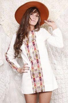 Bohemian Mini Dress $62 by kara