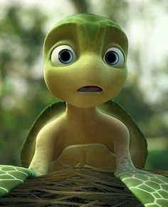 Image discovered by kijunjun. Find images and videos about cartoon and turtle on We Heart It - the app to get lost in what you love. Cute Turtles, Baby Turtles, Sea Turtles, Arte Disney, Disney Pixar, Turtle Time, Baby Animals, Cute Animals, Crocodiles
