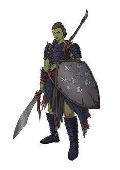 f Half Orc Cleric of Selune Med Armor Shield Glaive Magdove Yllaris characterdrawing lg Fantasy Warrior, Orc Warrior, Fantasy Races, Fantasy Rpg, Fantasy Women, Medieval Fantasy, Dungeons And Dragons Characters, D D Characters, Fantasy Characters