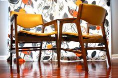 Two Mid Century Gunlocke Chairs