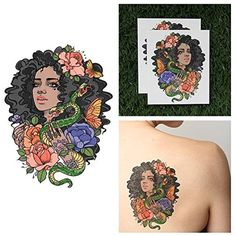 Tattify Girl With Snake Temporary Tattoo - Eve (Set of 2) - Other Styles Available and Fashionable Temporary Tattoos - Tattoos that are long lasting and Waterproof * Find out more about the great product at the image link. (This is an affiliate link and I receive a commission for the sales) #TemporaryTattoos