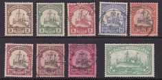German EAST AFRICA ^^^^^1900  x9 mint & used KAISER YACHTS $$@ f5903gea  | eBay
