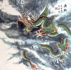 Chinese Dragon Painting,50cm x 50cm,4739010-x