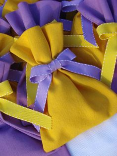 yellow & purple for little miss M.