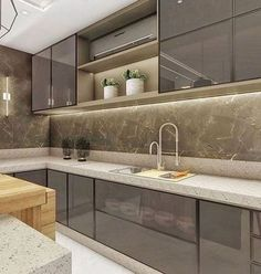 Are you looking for a truly stunning finish to your interior design project? here we present some interior glass kitchen designs #KitchenDesignIdeas #InteriorKitchenDesignIdeas #KitchenDesignGlassSurfacesIdeas