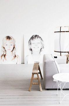 inspirierende Fotowand Ideen im skandinavischer Stil
