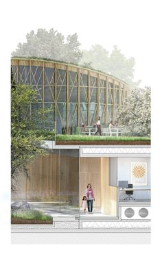 Image 8 of 14 from gallery of Kengo Kuma and Cornelius+Vöge Release Plans for Hans Christian Andersen Museum in Odense. Courtesy of Kengo Kuma & Associates, Cornelius+Vöge, and MASU planning Public Architecture, Architecture Drawings, Landscape Architecture, Architecture Design, Kengo Kuma, Odense, Perspective Images, Eco City, Archi Design