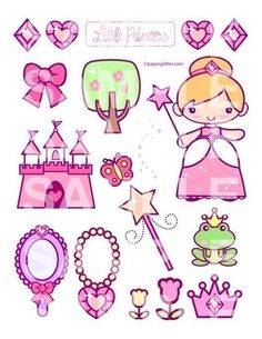 Printable PDF-Princess Collage Sheet