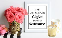 She Drinks More Coffee Than A Gilmore / black by TheTrendySparrow