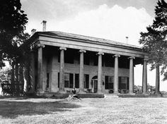 The Forks of Cypress plantation house, built ca. in Lauderdale County, a unique Alabama example of a plantation house Southern Plantation Homes, Southern Mansions, Southern Plantations, Southern Homes, Plantation Houses, Southern Style, Old Mansions, Abandoned Mansions, Abandoned Buildings
