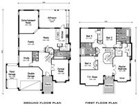Roselea Homes - Display Homes - The Sapphire Display Homes, New Home Designs, Sapphire, New Homes, Floor Plans, House Design, New House Designs, Architecture Design, House Plans