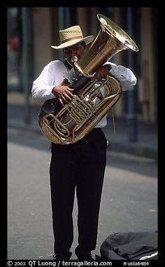 Street Musician, French Quarter. New Orleans, Louisiana, USA