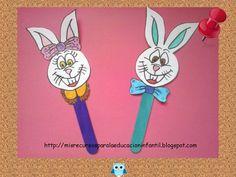 Marionetas del conejo de Pascua