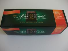 Orange AND mint After Eights! They can't decide which flavour they are!