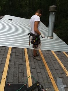 Ideas, metal roof purlins over shingles metal roof purlins over shingles metal roof purlins koukuujinja 2448 x 3264 . Mobile Home Renovations, Remodeling Mobile Homes, Metal Roof Over Shingles, Mobile Home Roof, Carport Sheds, Roof Replacement Cost, Metal Roof Installation, Gazebo Roof, Diy Roofing