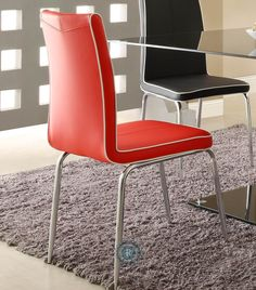 Goran Red Side Chair Set of 2