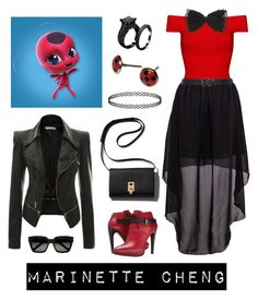 """MARINETTE CHENG"" by halloweenwoods ❤ liked on Polyvore featuring Posh Girl, COSTUME NATIONAL, M&Co and Yves Saint Laurent"