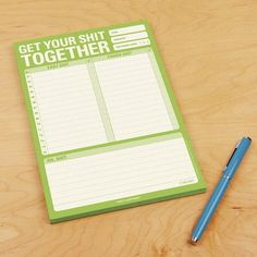 Get Your Shit Together Note Pad - stocking stuffers for men