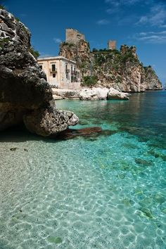 Scopello, right next door to Castellammare del Golfo, Trapani, Sicily Places Around The World, Oh The Places You'll Go, Places To Travel, Places To Visit, Vacation Destinations, Dream Vacations, Vacation Ideas, Wonderful Places, Beautiful Places