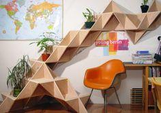 La repisa modular T. Shelf , diseñada por Jaewon Cho para J1 Studio