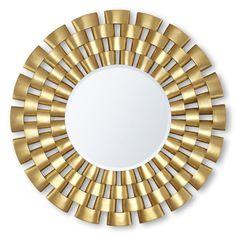 Gold round mirror  luxury furniture   hwww.bocadolobo.com #modernmirror #mirrorideas