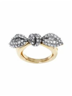 Mmhmmm. Put-a bow on it. Juicy Couture, Pave Bow Ring, $68.00