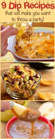 9 Dip Recipes to Make You Want to Throw a Party!: