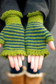 bright green gloves