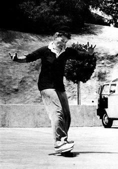 Katharine Hepburn living life well into her golden years.  Bless her heart!