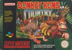 Buy Donkey Kong Country for the Super Nintendo the one-player platforming game that takes into the depths of Donkey Kong Island. New Video Games, Retro Video Games, Video Game Art, Consoles, The Jungle Book, Playstation, Super Nintendo Games, Nintendo News, Pokemon X And Y