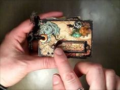 "▶ ""Tiny Treasures"" Micro Mini using G45's ""Steampunk Debutante"" Paper Collection - YouTube"