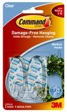 Command(TM) Clear Hooks - sizes that hold 1 to 4 pounds & no wall damage!!!