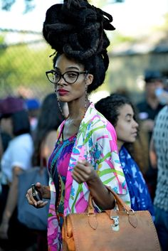 This woman's style is amazing! Chic at its best Ladene! #chicrebellion #chicstyle #ladeneclarke
