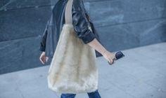 ANJA Bag Beige Fur