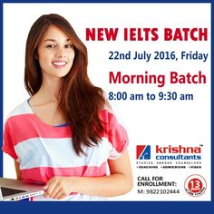 New #IELTS Batch to start from 22nd July 2016, Morning Batch 8:00 am to 9:30 am…Register Now http://bit.ly/29OYjUH