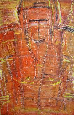 Bushido ,Olie på gips  (60x40) 2011 af Svend Christensen