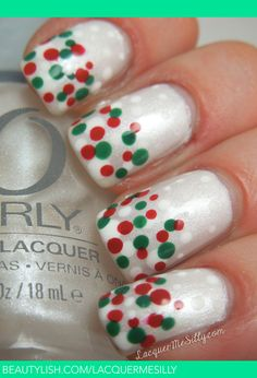 Holiday Dotticure | Frances T.'s (LacquerMeSilly) Photo | Beautylish