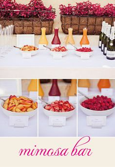 Mimosa Bar - engagement party or shower or a Sunday Funday.
