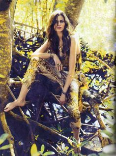 Forest Frolicking Editorials - The Vogue Spain Feb 2012 Shoot is Whimsical (GALLERY)