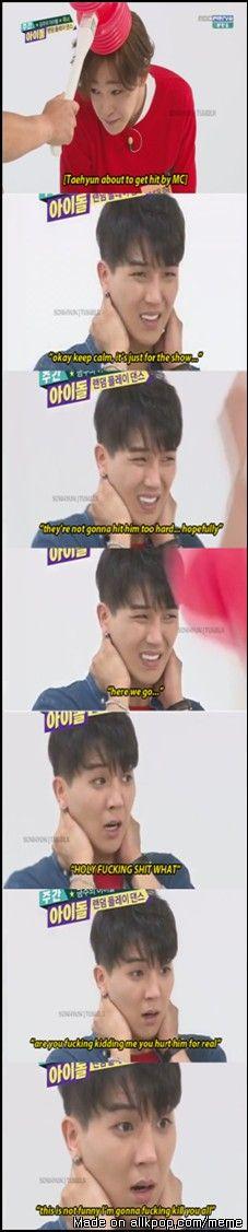 Mino's face when taehyung got hit by Mc. #NAMSONG