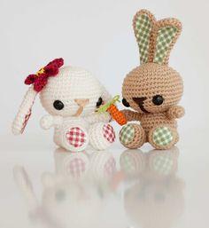 Amigurumi pareja conejos