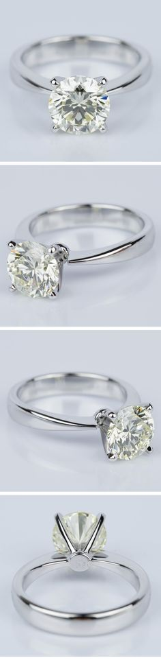 A custom Flat Taper Solitaire Diamond Engagement Ring in White Gold off to soon to be very lucky individual!