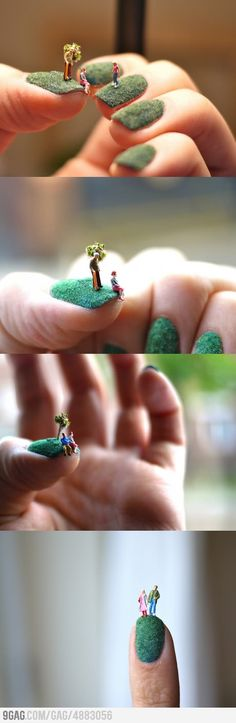 whole new meaning to nail art. this is insane.