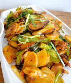 Stir-Fry Sticky Rice Cake with Bok Choy Recipe - The Woks of Life #ricecake